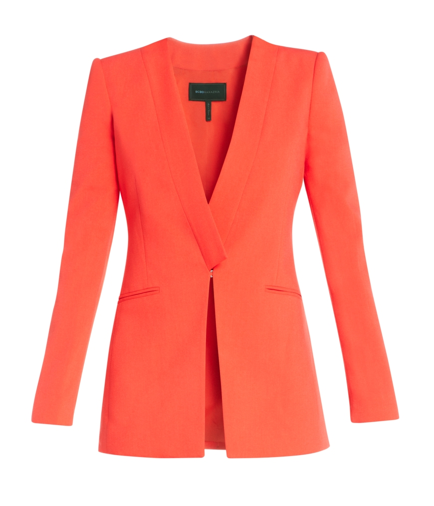 Andres Cutaway Blazer in Bright Poppy