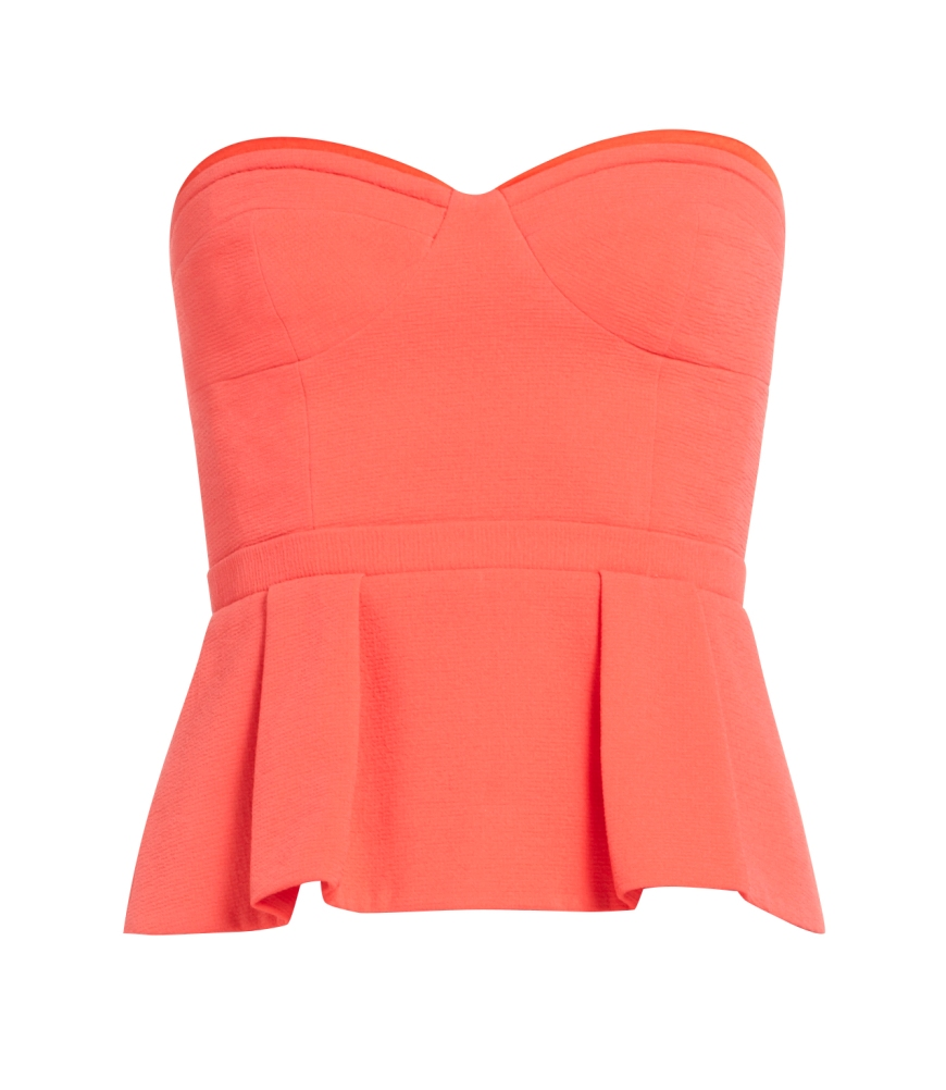 Joel Peplum Bustier in Bright Poppy