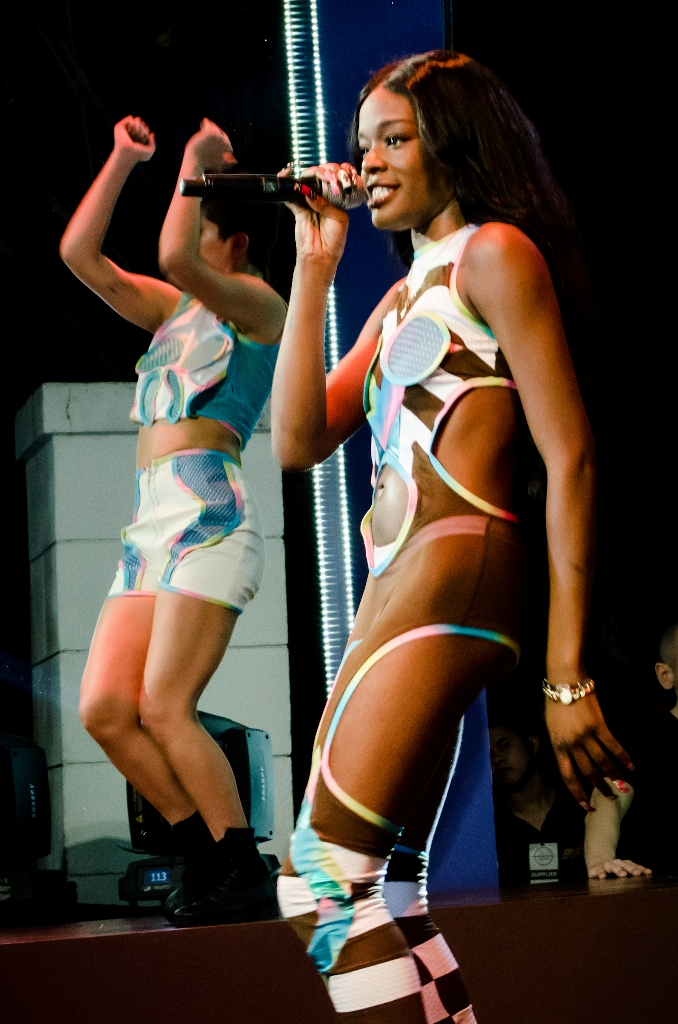 New York modern rap and dance music diva Azealia Banks rocks the house at the Magnum 2013 VIP party