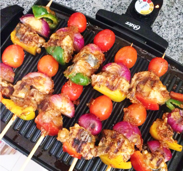 how to make grilled fish kebabs