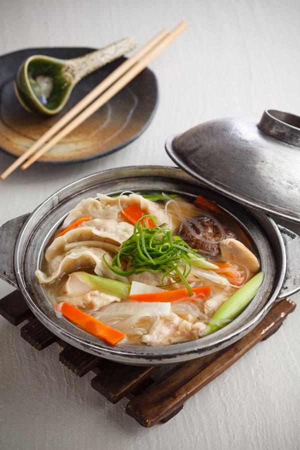 Gyoza Chicken Sukiyaki Soup