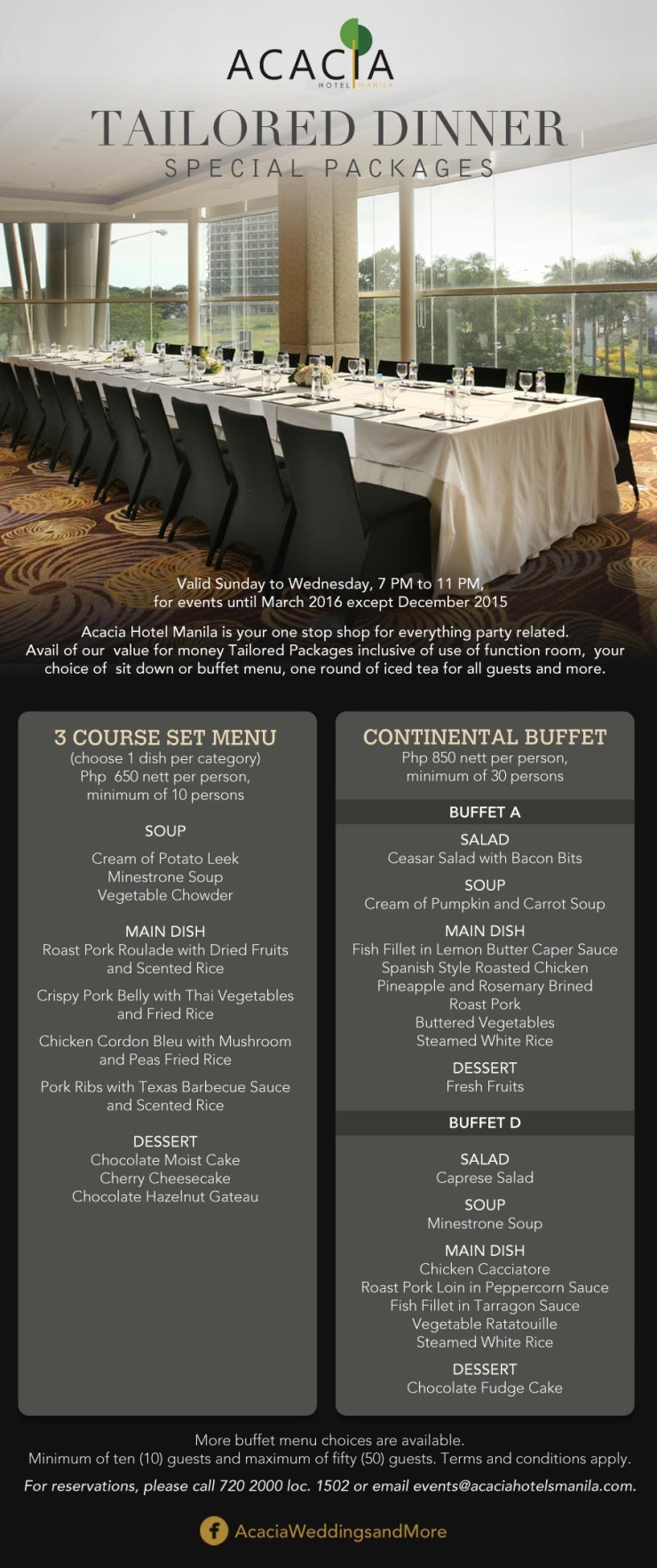 TAILORED DINNER PARTY PACKAGES (3)